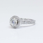 Halo Diamond Ring with Surprise Diamond Accent (1 Carat) - small angle 3