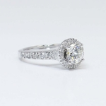 Halo Diamond Ring with Surprise Diamond Accent (1 Carat) - small angle 4