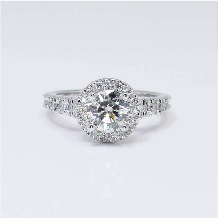 Halo Diamond Ring with Surprise Diamond Accent (1 Carat)