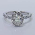 Halo 0.88 Carat Oval Diamond Engagement Ring - small