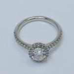 Halo 0.88 Carat Oval Diamond Engagement Ring - small angle 4