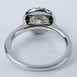 Halo Engagement Ring with K Color Center Diamond - small angle 4