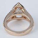 Halo Pear Diamond Engagement Ring in Rose Gold - small angle 4
