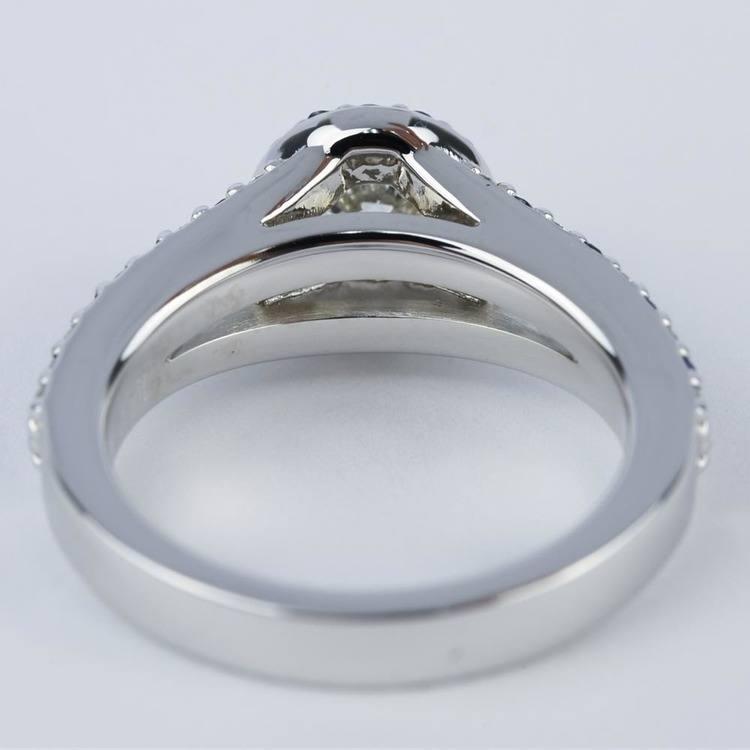 Split Shank Diamond & Sapphire Engagement Ring (0.50 ct.) angle 4