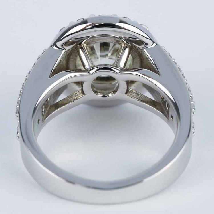 Large Halo Diamond Engagement Ring (3.50 Carat) angle 4