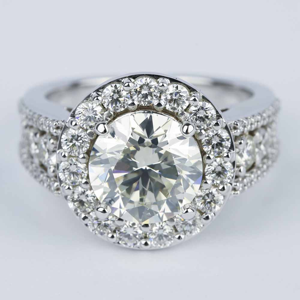 K White Gold Carat Ct Center Mm F Color Round Brilliant Lab Grown Moissanite additionally Oval A A A A Aa D B De B likewise Moissanite Ring A likewise Ring Purple as well Topaz Ring A. on 3 carat moissanite ring