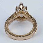Hand-Carved Milgrain Marquise Diamond Engagement Ring (2 ct.) - small angle 4