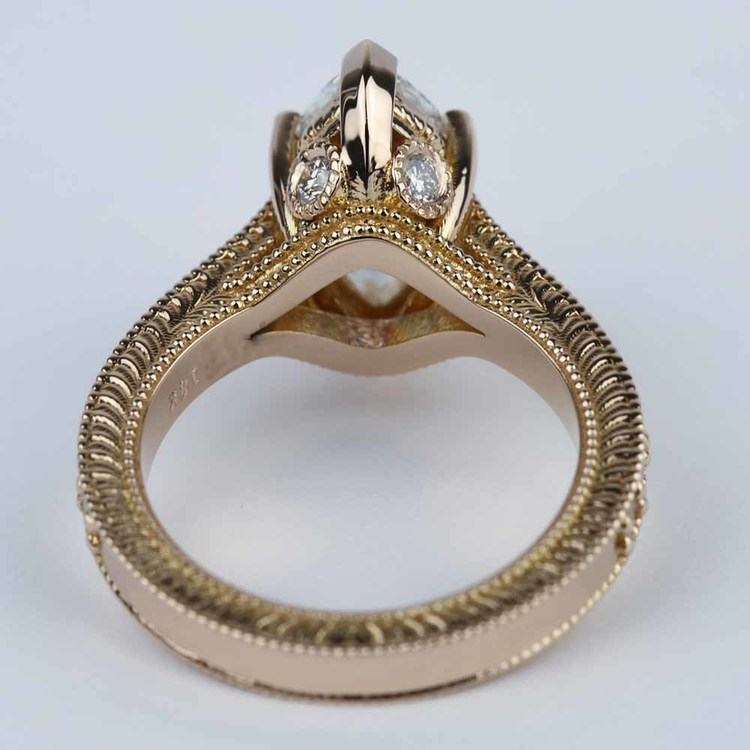 Hand-Carved Milgrain Marquise Diamond Engagement Ring (2 ct.) angle 4