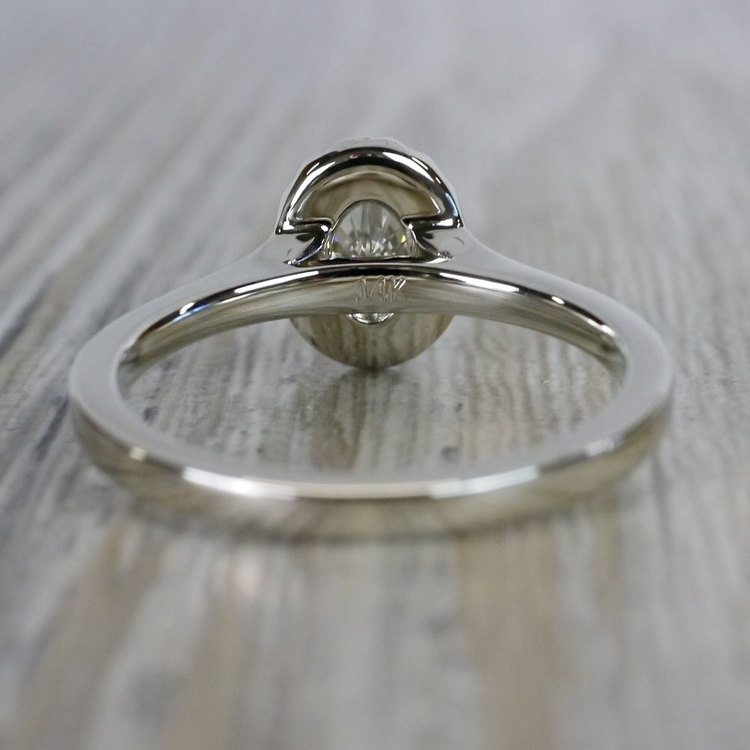 Heavenly Halo Oval Moissanite Engagement Ring angle 4