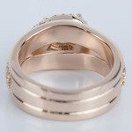 Horizontal-Set Pear Halo Diamond Engagement Ring in Rose Gold - small angle 4