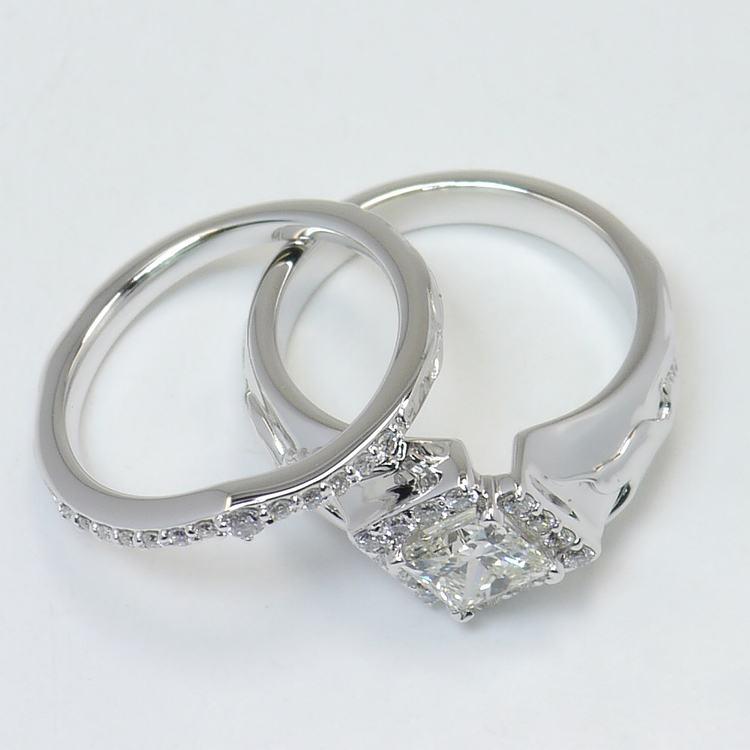 Custom Aviary 1 Carat Princess Diamond Engagement Ring angle 4