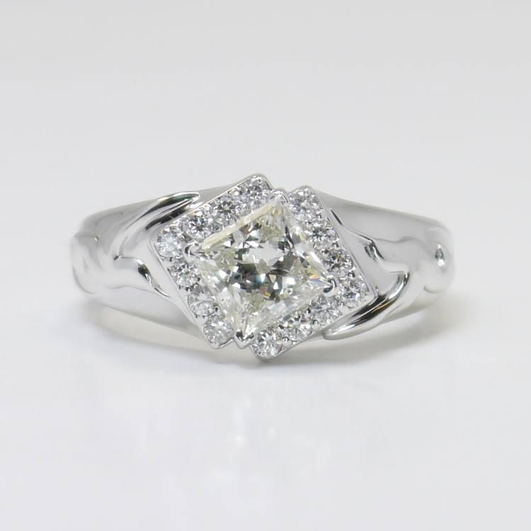 Custom Aviary 1 Carat Princess Diamond Engagement Ring