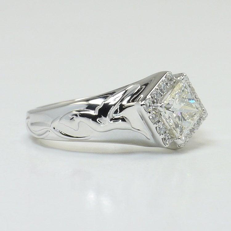 Custom Aviary 1 Carat Princess Diamond Engagement Ring angle 3
