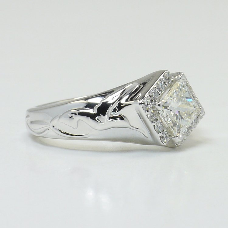 Hummingbird Diamond Ring with Matching Band angle 3