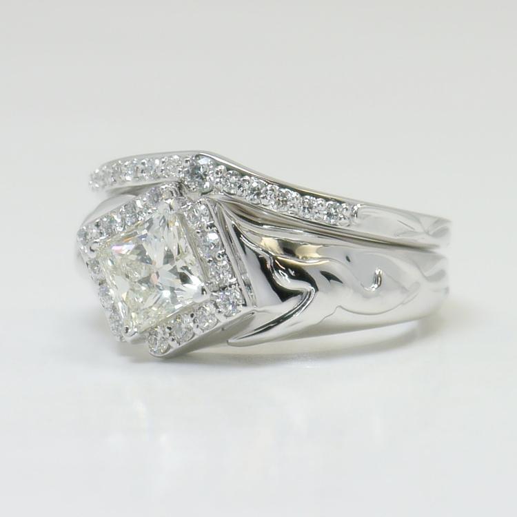 Custom Aviary 1 Carat Princess Diamond Engagement Ring angle 2