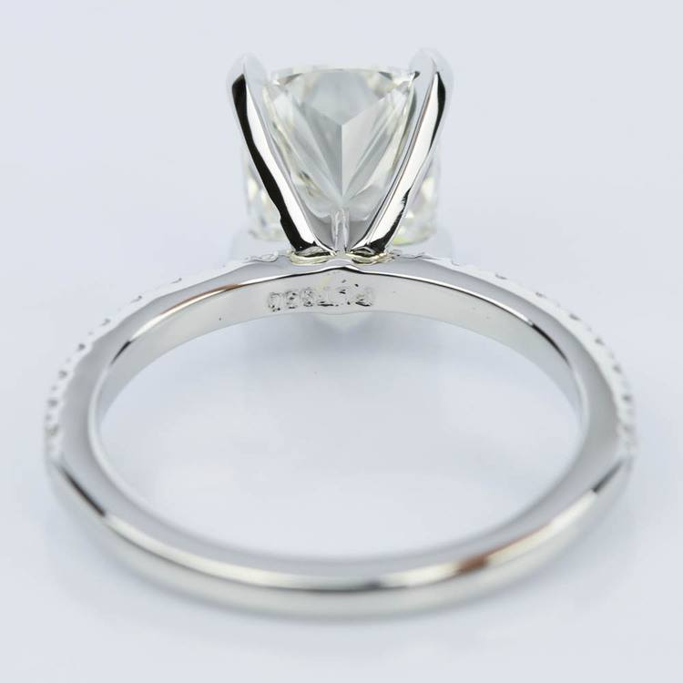 Ideal Cushion-Cut Diamond with Petite Pave Ring Setting (1.78 ct.) angle 4