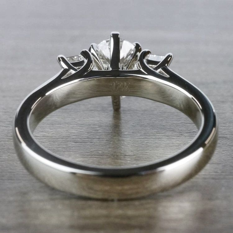 Pear Shaped Diamond Ring With Side Stones In White Gold angle 4