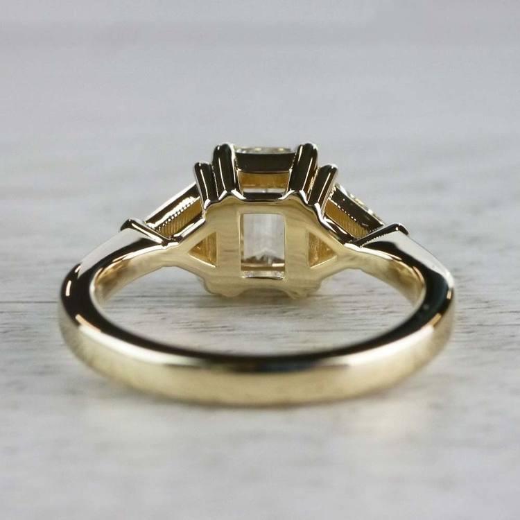 Incredible 1 Carat Emerald Cut Diamond Ring In Yellow Gold angle 4
