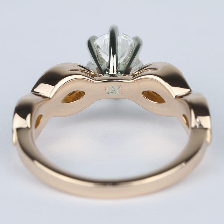 Infinity Twist Pear Cut Diamond Engagement Ring angle 4