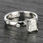 Inset Engagement Ring with Emerald Cut Diamond - small angle 3