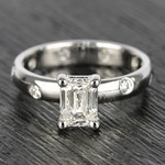 Inset Engagement Ring with Emerald Cut Diamond - small