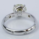 Inset Diamond Engagement Ring in White Gold with Round 1.93 Carat - small angle 4