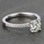 Internally Flawless Round Scallop Diamond Engagement Ring (1 Carat) - small angle 3