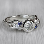 Intricate Leaves Twisted Vine Engagement Ring by Parade - small angle 3