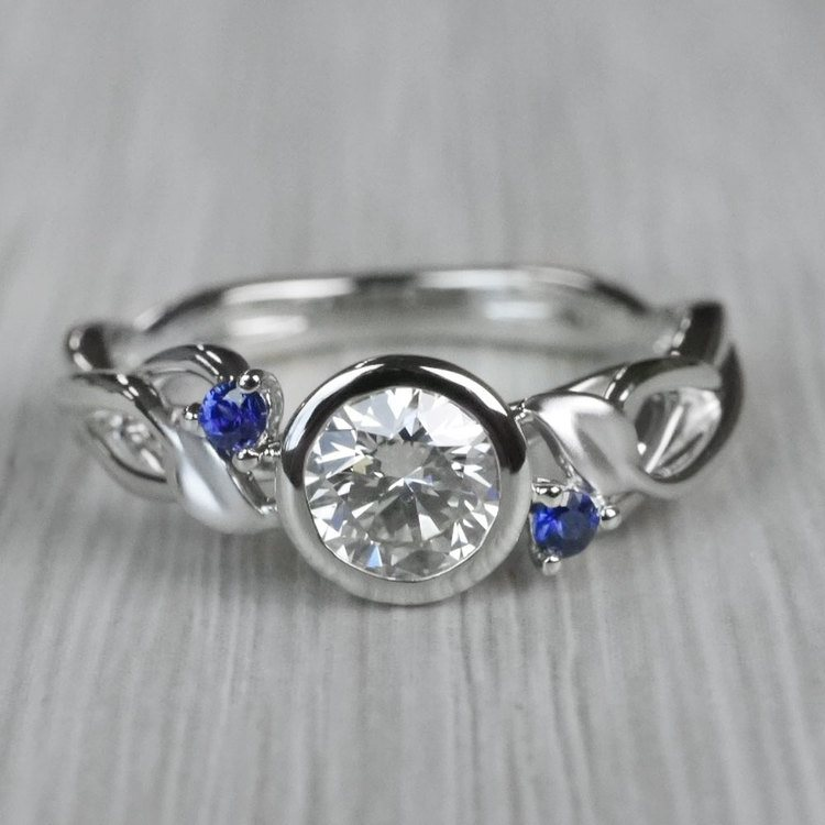 Intricate Leaves Twisted Vine Engagement Ring by Parade