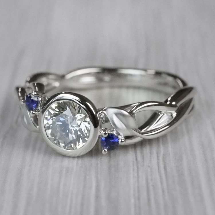 Intricate Leaves Twisted Vine Engagement Ring by Parade angle 2