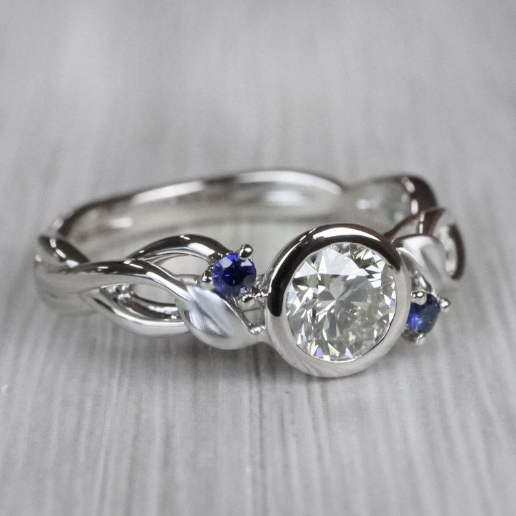 Intricate Leaves Twisted Vine Engagement Ring by Parade angle 3