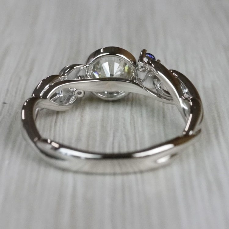 Intricate Leaves Twisted Vine Engagement Ring by Parade angle 4