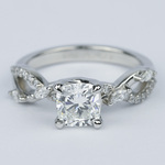 Ivy Cushion Diamond Engagement Ring (1.23 ct.) - small