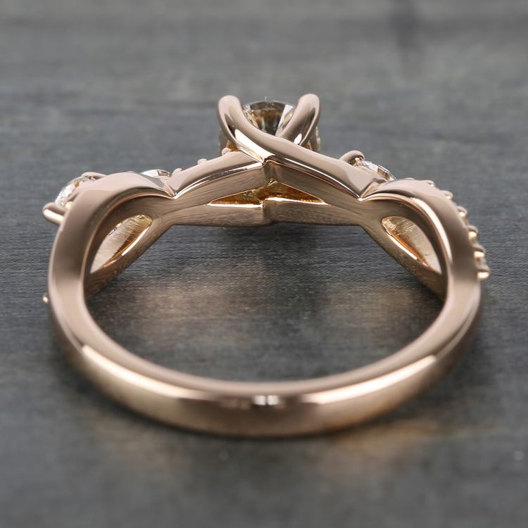 Rose Gold Ivy Half Carat Round Diamond Engagement Ring angle 4
