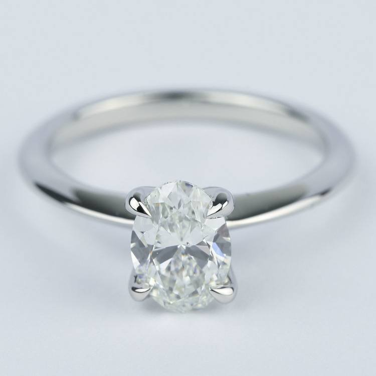 Knife Edge Oval Diamond Engagement Ring (1.20 ct.)