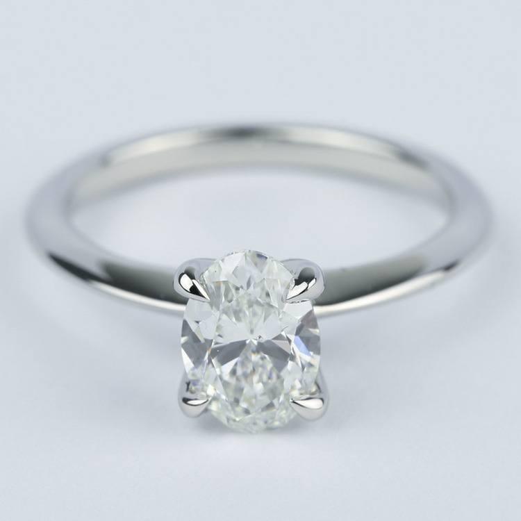 knife edge oval diamond engagement ring ct. Black Bedroom Furniture Sets. Home Design Ideas