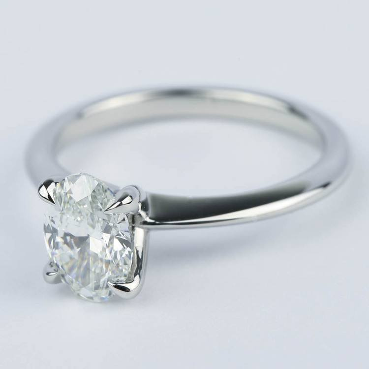Knife Edge Oval Diamond Engagement Ring (1.20 ct.) angle 2