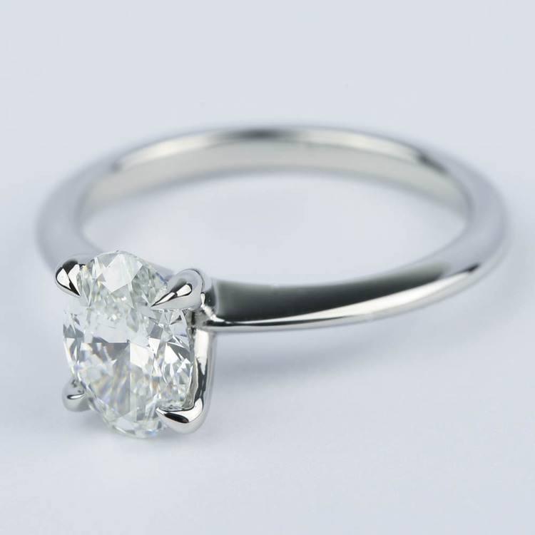 Knife Edge Oval Diamond Engagement Ring (1.20 ct.) angle 2
