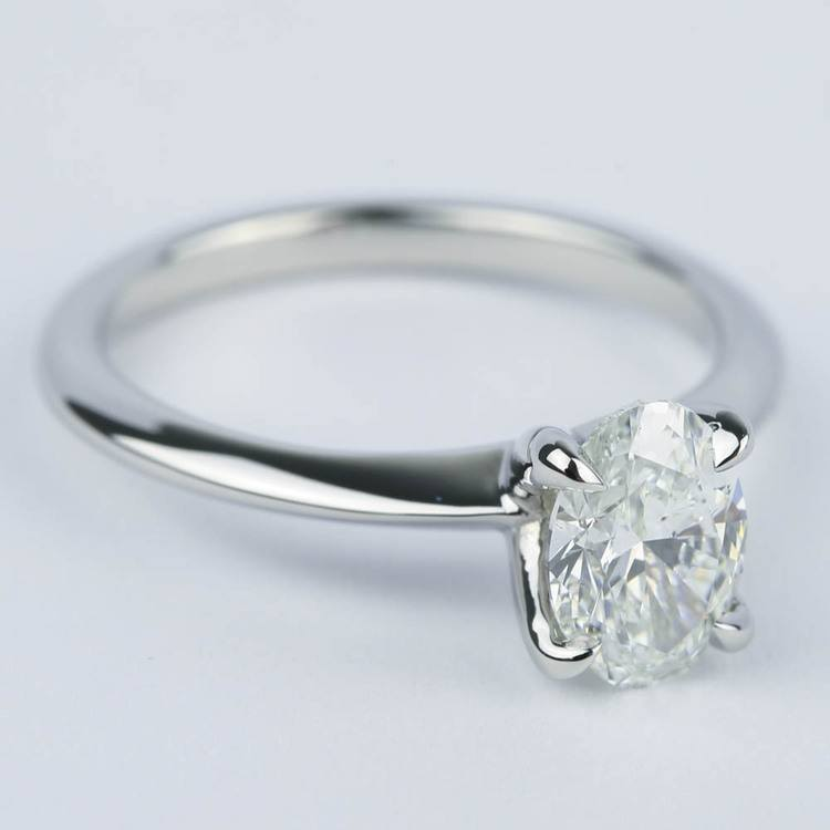 Knife Edge Oval Diamond Engagement Ring (1.20 ct.) angle 3