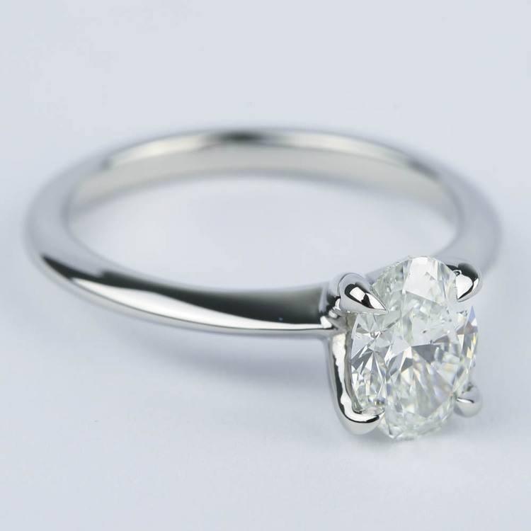 Knife Edge Oval Diamond Engagement Ring (1.20 ct.) angle 3