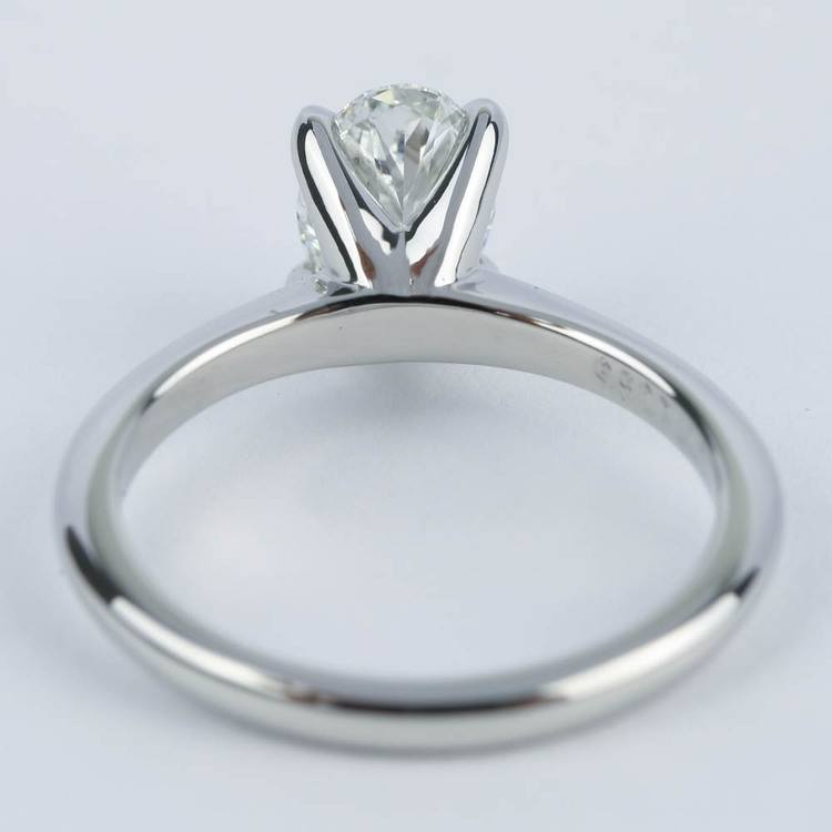Knife Edge Oval Diamond Engagement Ring (1.20 ct.) angle 4
