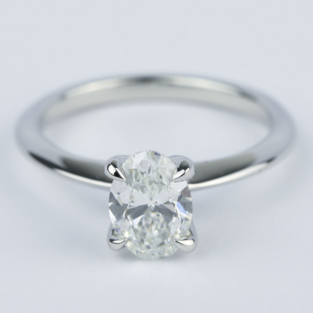 Knife Edge Oval Diamond Engagement Ring 1 20 Ct