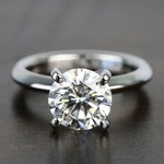 Knife Edge 1 Carat Round Solitaire Diamonds Engagement Ring - small