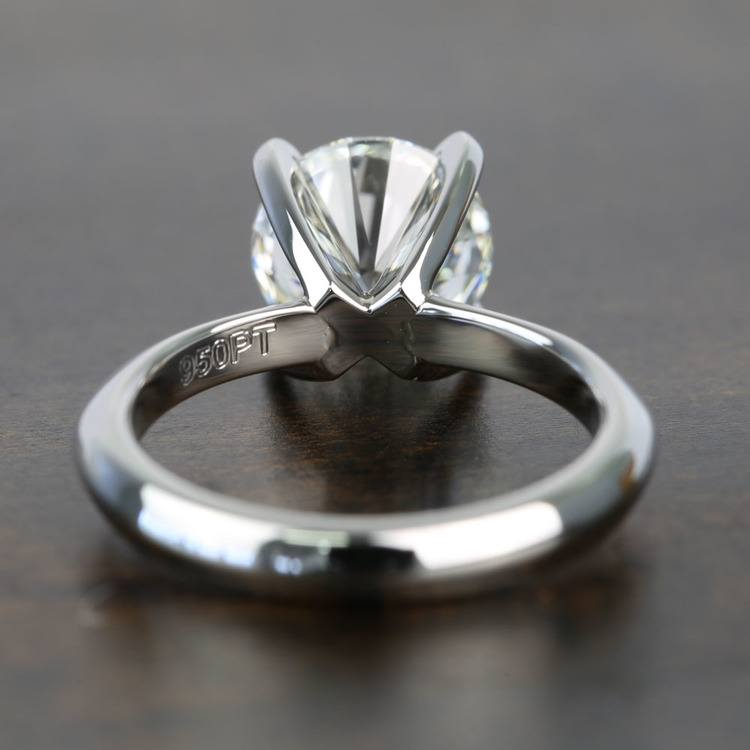 Knife Edge 1 Carat Round Solitaire Diamonds Engagement Ring angle 4