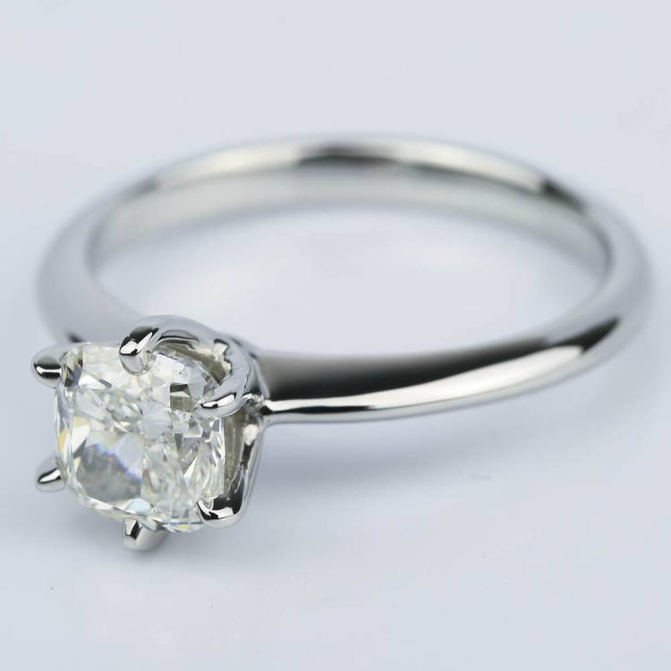 Knife-Edge Cushion Diamond Solitaire Engagement Ring (1.81 ct.) angle 2