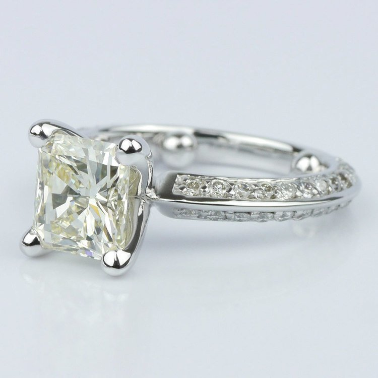 Knife Edge Diamond Ring angle 2