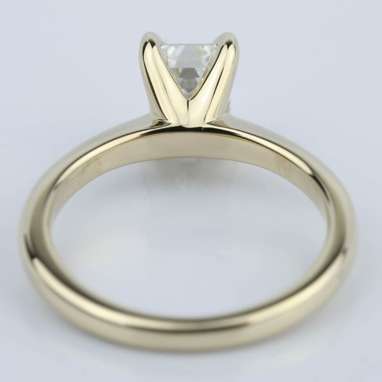 Knife Edge Emerald Cut Diamond Solitaire Ring (1 Carat) angle 4