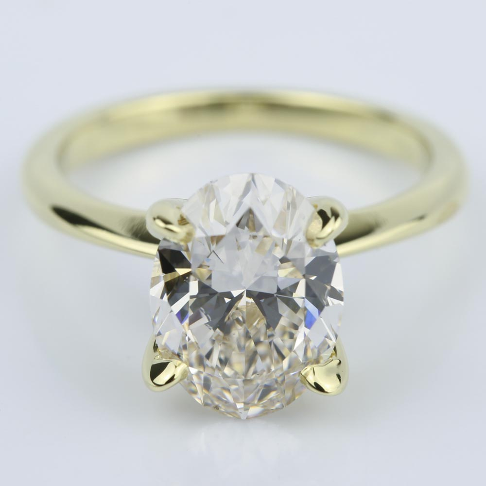 knife edge oval solitaire diamond engagement ring ct. Black Bedroom Furniture Sets. Home Design Ideas