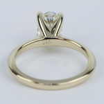 1 Carat Oval Diamond Set In Knife-Edge Engagement Ring - small angle 4