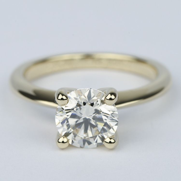 Knife Edge Solitaire Diamond Engagement Ring (1.64 ct.)